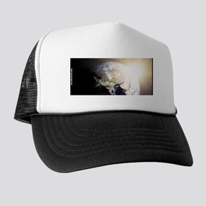 Outerspace Earth Sunset Trucker Hat