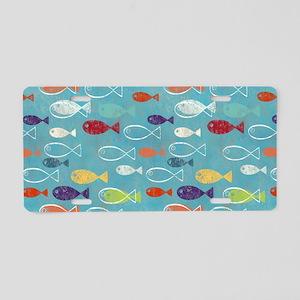 Cute Summer Beach Fish Aluminum License Plate