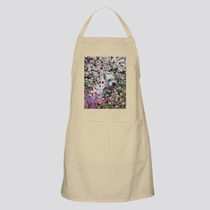 Violet the White Westie in Flowers I Apron