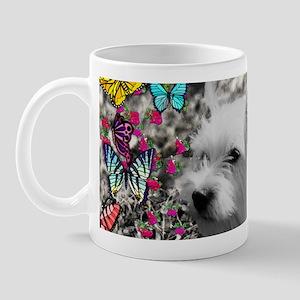 Violet the White Westie in Butterflies Mug