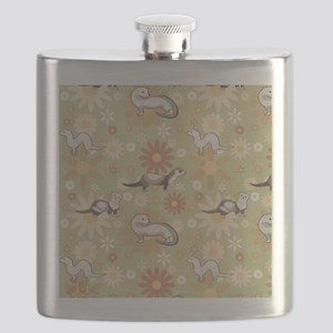 Ferrets and Flowers Flask