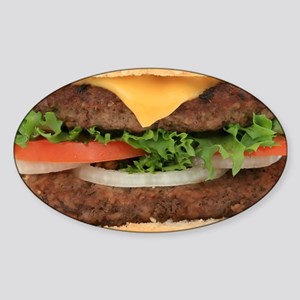 Hamburger Sticker (Oval)