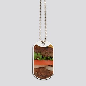 Big Juicy Hamburger Dog Tags