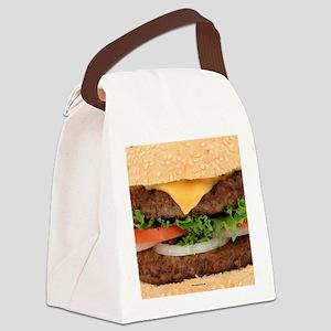 Funny Hamburger Canvas Lunch Bag