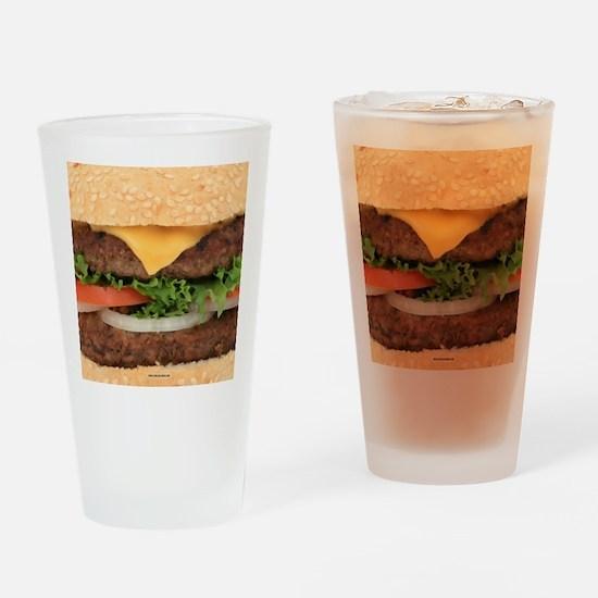 Funny Hamburger Drinking Glass