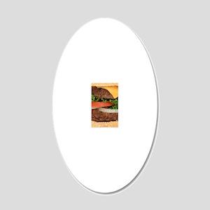 Hamburger 20x12 Oval Wall Decal
