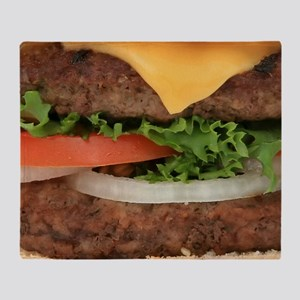 Big Juicy Hamburger Throw Blanket