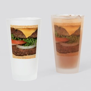 Big Juicy Hamburger Drinking Glass