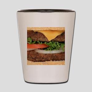 Big Juicy Hamburger Shot Glass