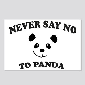 Never say no to panda Postcards (Package of 8)