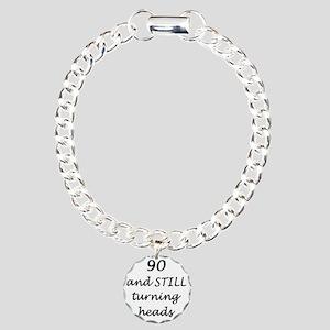 90 still turning heads 3 Charm Bracelet, One Charm