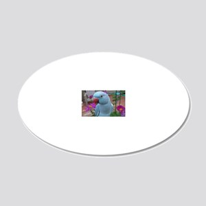 Indian Ringneck Parakeet Clo 20x12 Oval Wall Decal