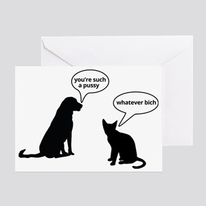 Youre such a pussy Greeting Card