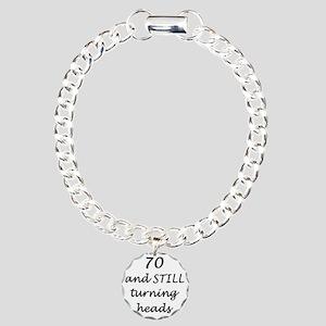 70 still turning heads 3 Charm Bracelet, One Charm
