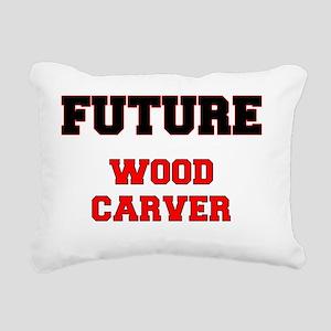 Future Wood Carver Rectangular Canvas Pillow