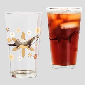 Sable Mitt Ferret Drinking Glass