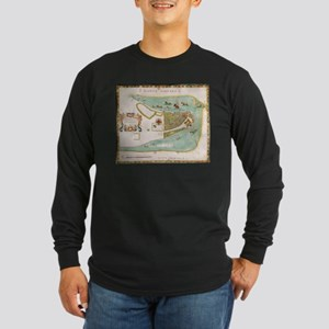 Historical Map of New York Cit Long Sleeve T-Shirt