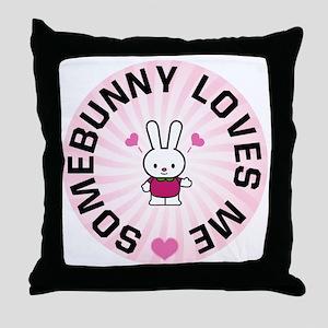 Somebunny Loves Me Throw Pillow