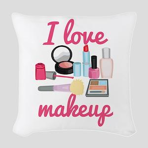 I love makeup Woven Throw Pillow