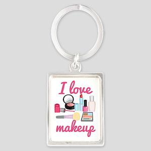 I love makeup Portrait Keychain