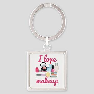 I love makeup Square Keychain