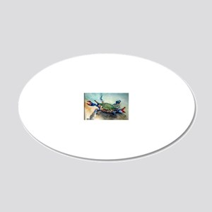 The Blue Crab 20x12 Oval Wall Decal