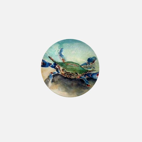 The Blue Crab Mini Button