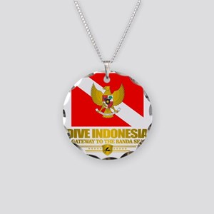 Dive Indonesia Necklace Circle Charm