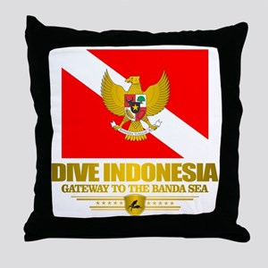 Dive Indonesia Throw Pillow