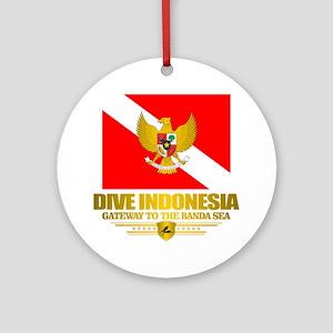 Dive Indonesia Round Ornament