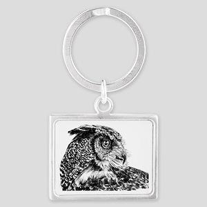 Owl 2 Landscape Keychain