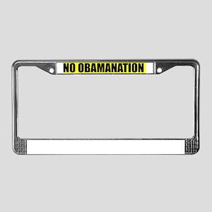 NO OBAMANATION License Plate Frame