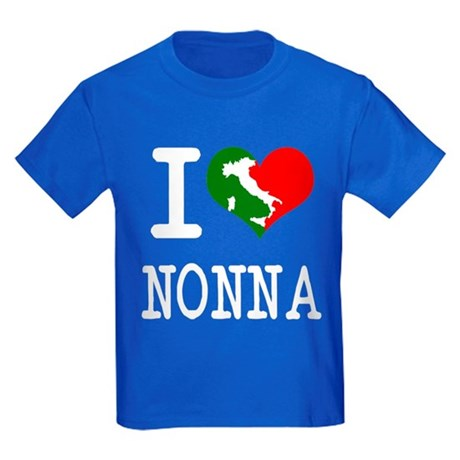 I Love Nonna Kids Dark T-Shirt