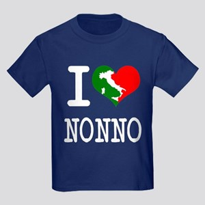 I Love Nonno Kids Dark T-Shirt