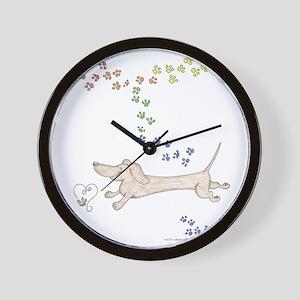 Doxie Rainbow Love Wall Clock