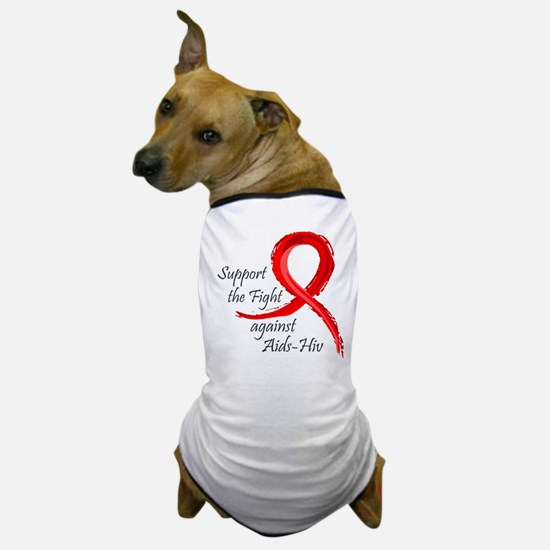 Support AIDS-HIV - Dog T-Shirt