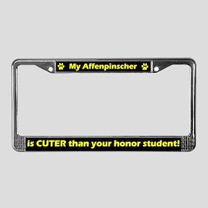 Honor Student Affenpinscher License Plate Frame