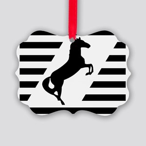 Norfolk and Southern thoroughbred Picture Ornament