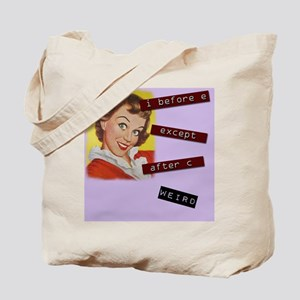 Kitschy Grammar Lady Tote Bag