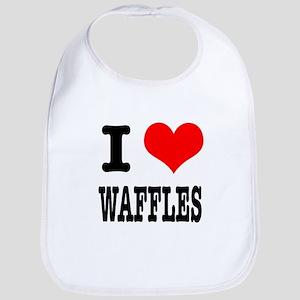 I Heart (Love) Waffles Bib
