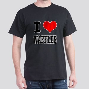 I Heart (Love) Waffles Dark T-Shirt