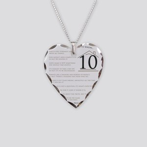 Top Ten Things to Know Necklace Heart Charm