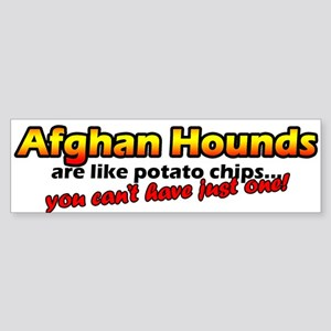 Potato Chips Afghan Hound Bumper Sticker