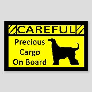 Precious Cargo Afghan Hound Rectangle Sticker