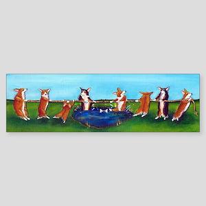 Corgi Tug O'War Bumper Sticker