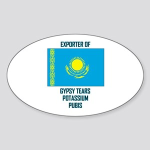 Borat-Exports Oval Sticker