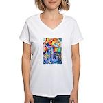 Surreal Seascape Watercolor Women's V-Neck T-Shirt