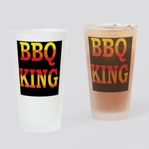 bbq KING DARK BUTTON Drinking Glass