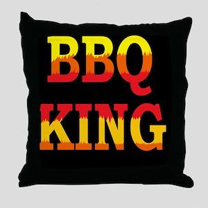 bbq KING DARK BUTTON Throw Pillow