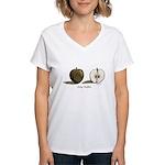 Going Halfsies Apples Women's V-Neck T-Shirt